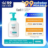 Sữa tắm toàn thân cấp ẩm chuyên sâu dạng bọt Curel 480 ml