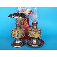 Cặp đèn thờ sứ Kim Sa và 1 dầu Lưu Ly Cát Tường 2 lit