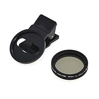Adjustable 37mm Neutral Density Clip-on ND2 - ND400 Phone Camera Filter Lens for Android ios Mobile
