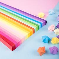 1000 tờ giấy gấp sao nhiều màu Deli - làm quà tặng, origami lucky star paper - 74834/74835