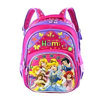 Balo học sinh cấp 1, bé gái, HAMI b1h2188 - hàng chính hãng, hàng Việt Nam Chất lượng cao (màu hồng phối tím, hình công chúa, họa tiết ngẫu nhiên)