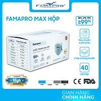 [HỘP - FAMAPRO MAX] - Khẩu trang y tế kháng khuẩn 4 lớp Famapro Max (40 cái/ hộp) - 1 HỘP