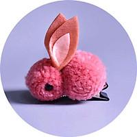 Kẹp tóc thỏ bông 3D siêu đáng yêu cho các nàng công chúa – P096