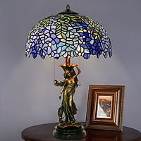Đèn bàn Tiffany 40 chân tiên nữ đồng