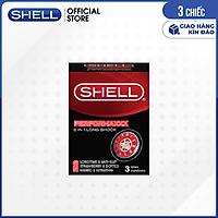 [Hộp 3 cái] Bao cao su Shell Performaxxx 6 in 1 - Kéo dài thời gian | SHELL OFFICIAL STORE