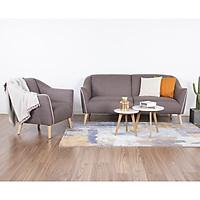 Bộ Sofa Vải Cao Cấp 3+1 AQ018 - Nâu Nhạt