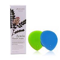Kem dưỡng da tay thảo mộc Hàn Quốc cao cấp 3W Clinic Acacia Hand Cream (100ml) + Tặng Dụng Cụ Rửa và Massage Mặt Silicon Mềm Dẻo Hàn Quốc Suri Facial Cleansing Fad – Hàng Chính Hãng