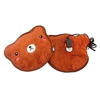 Túi Sưởi Ấm Họa Tiết Thú Bông Đa Năng (1 Sản Phẩm)- Dùng Điện  - Màu Nâu - Mẫu MM1701