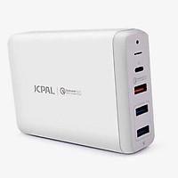 Sạc đa cổng cho MacBook / iPad / iPhone hiệu JCPAL Elex Usb-C PD Quick Charge (4 trong 1) - Hàng nhập khẩu