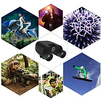 10x25 Compact HD Binoculars Portable Telescope for Bird Watching Traveling Concerts Sightseeing