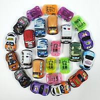 Bộ 25 mô hình đồ chơi nhựa xe ô tô mini bánh đà hỗn hợp (4.5x3x2 cm) - Màu ngẫu nhiên