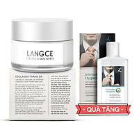 Collagen White Perfect Trắng Da Giữ Ẩm Chống Nắng Spf19 50ml cho Nam TẶNG Gel Vệ Sinh Vùng Kín Nam 100ml LANGCE