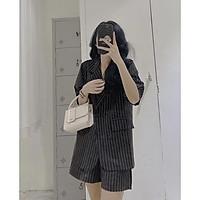 Set Vest nữ quần đùi đi chơi sang chảnh phong cách Hàn Quốc, Set đồ nữ cá tính trong bộ sưu tập Blazer nữ cộc tay
