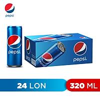 Thùng 24 Lon Nước Ngọt Có Gaz Pepsi (320ml/lon)