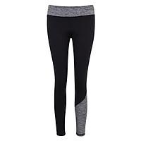 Quần legging thể thao nữ dài phối 2 màu-QD1