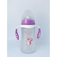 Bình sữa thủy tinh bọc silicon Gluck Baby 240ml