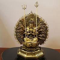 Tượng Phật thiên thủ thiên nhãn bằng đồng 42cm đúc thủ công đẹp tinh xảo
