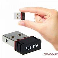 USB Wifi không dây 802.11N - Thu sóng wifi cho máy tính pc, laptop, usb mini không dây loại tốt có tặng kèm đĩa cài