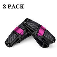 2PCS ABS Sun Visor Clip Sunglasses Holder for Car Sun Visor Car Sunglasses Clip Glasses Hanger Mount