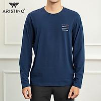 Áo thun nam dài tay Aristino ALT001W9 phom Casual Fit rộng rãi