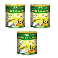Thực phẩm chức năng sữa nghệ nano curcumin enlan gold 3 hộp thiếc 800gr