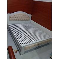 Giường sắt ngủ cao cấp có nệm bọc  1m4 - Sắt hộp 5x10 độ bền cao
