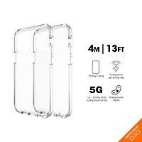 Ốp lưng chống sốc Gear4 D3O Crystal Palace iPhone - Công nghệ chống sốc độc quyền D3O, kháng khuẩn, tương thích tốt với sóng 5G - Hàng chính hãng