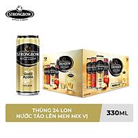 Thùng 24 Lon Cao Strongbow Cider Đặc Biệt 4 Vị (330ml / Lon)