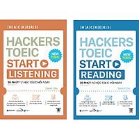Combo 2 Cuốn: Hackers Toeic Start Listening + Reading