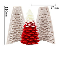 Silicone Candle Mold 3D Christmas Tree Pine Cone Shape Soap Clay Making Diy Cake Decoration