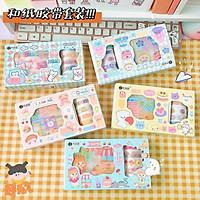 Set Hộp Washi Tape & Sticker nhiều mẫu cute - Hộp 5 cuộn washi tape + 10 sticker dễ thương - Corgi Shop