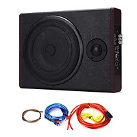 8-inch Car Stereo Refitting Ultrathin Subwoofer High Power 12.0V Wood Leather Stereo With High Pitches 600W Subwoofer