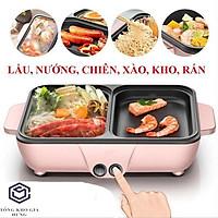 Bếp nướng lẩu đa năng 2 in 1 Mini Hàn Quốc - Nồi Đôi Mini Nướng và Lẩu 2 trong 1 BNL03