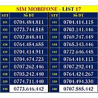 SIM SỐ ĐẸP MOBIFONE - LIST 17 (MBFDS17) - Số dễ nhớ, thần tài, lộc phát, số cặp, số tiến - SIM MỚI, ĐĂNG KÝ ĐÚNG CHỦ ONLINE - Hàng chính hãng