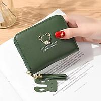 Bóp ví cầm tay nữ mini đính gấu xinh xắn V46