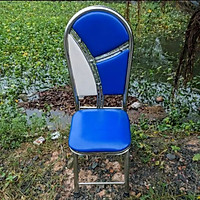 Ghế xếp Inox ngồi 50 cm - Nệm dày