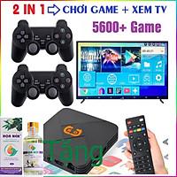 Máy Chơi Game Cầm Tay Điện Tử 4 Nút HDMI Không Dây Tích Hợp Hơn 5600+ Trò Chơi Cho PSP / PS1 / FC / NES (tặng chai dầu tràm Hoa Nén)