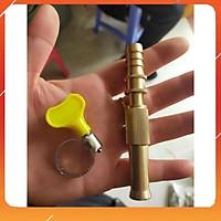 Đầu vòi xịt tăng áp mini bằng đồng phun nước rửa xe, tưới cây tăng áp đa năng có đai siết ống đi kèm 206587
