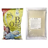 Combo Bộ Trà Sữa Huyền Thoại 1 Kg Bột Kem B-ONE Và 2 Kg Trân Châu 3Q Sea Jelly Trắng