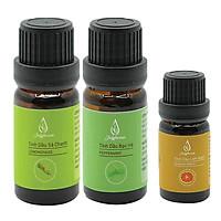 Bộ 2 Tinh dầu sả chanh và bạc hà 10ml/ chai + tặng tinh dầu cam ngọt 10ml JULYHOUSE