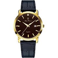 Đồng hồ nam dây da Olym Pianus OP130-06MK-GL nâu