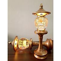 Đèn Thờ Phong Thủy Pha Lê Tháp Chữ Phật, hình quả lê DTP