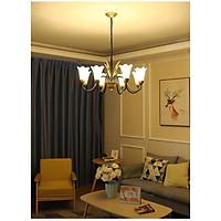 Đèn chùm LED LUXGEN BOE 8 tay trang trí nội thất sang trọng phong cách châu âu ( Tặng kèm 8 bóng LED chuyên dụng )