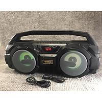 Loa Karaoke Bluetooth Xách Tay KM-S1 (Tặng Kèm 1 MIC Hát Có Dây Cắm Trực Tiếp, Bass Không Dây, Đèn Led Sống Động, Tặng kèm dây đeo điện thoại) - Hàng Nhập Khẩu
