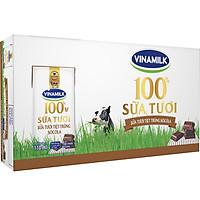 Thùng 48 Hộp Sữa Tươi Tiệt Trùng Vinamilk 100% Sôcôla  (180ml / Hộp)