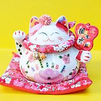 Mèo Thần tài Tròn 15cm - Ba Tiêu Phong Sinh Thuỷ Khởi