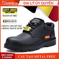 Giày bảo hộ lao động nam Jogger X1110 S3 SRC da bò cao cấp, chống nước, cấu tạo phi kim, chống trượt chuẩn SRC, cổ thấp