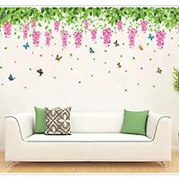 Decal dán tường Giàn hoa tử đằng DH033 - 2 bộ ( 50 x 360 cm )