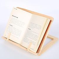 Khung gỗ đọc sách kiêm giá đỡ máy tính bảng có khóa gỗ