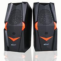 Loa vi tính cho máy tính laptop loa mini cắm điện thoại loa hay  PF100 Đen Cam